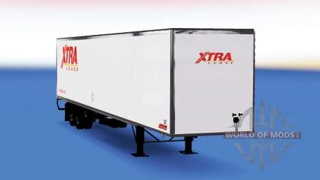 All-metal semi-trailer Xtra Lease for American Truck Simulator