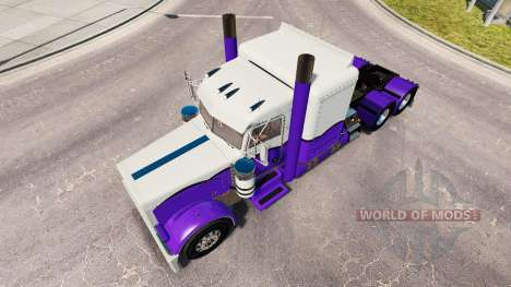 Skin Purple and White for the truck Peterbilt 38 for American Truck Simulator
