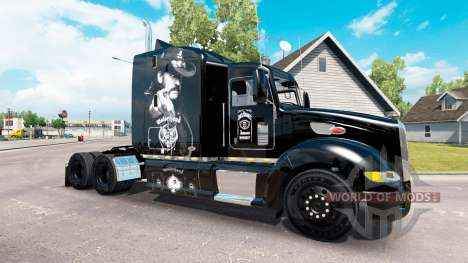 Motorhead skin for the truck Peterbilt 386 for American Truck Simulator