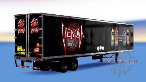 All-metal semi-trailer Venom Energy for American Truck Simulator