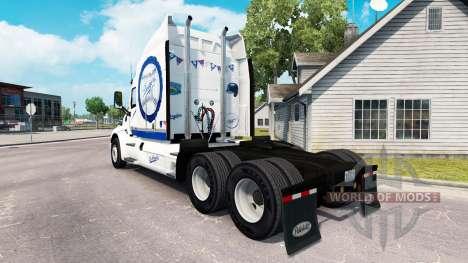 LA Dodgers skin for the truck Peterbilt for American Truck Simulator
