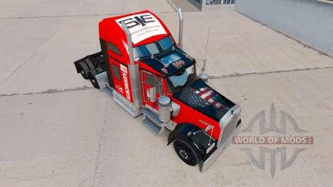 Skin on Southeastern truck Kenworth W900 for American Truck Simulator