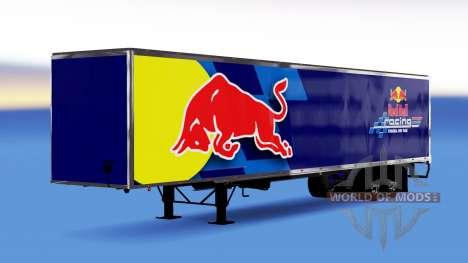 All-metal semi-trailer Red Bull for American Truck Simulator