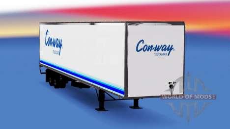 All-metal semi-trailer Conway for American Truck Simulator