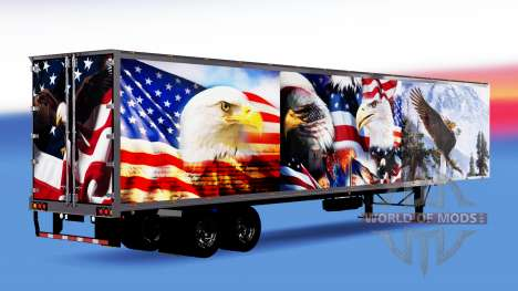All-metal semitrailer Eagle for American Truck Simulator