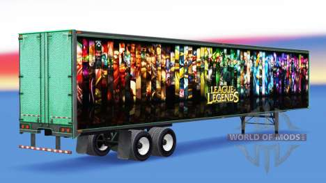 All-metal semi-trailer League of Legends for American Truck Simulator