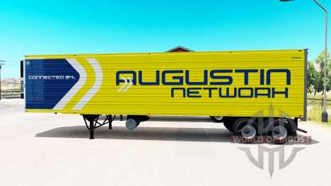 A collection of 33 skins for trailers for American Truck Simulator