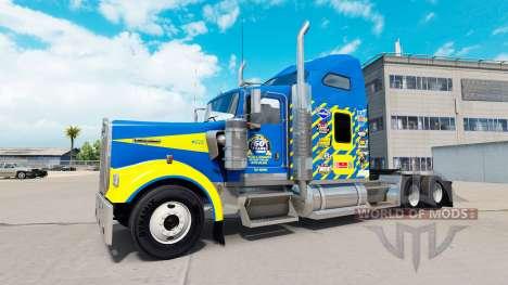 Skin Goodyear Racing truck Kenworth W900 for American Truck Simulator