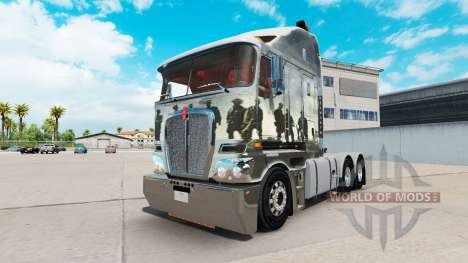Skin Band Of Brothers on tractor Kenworth K200 for American Truck Simulator