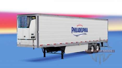 Skin Philadelphia on the trailer for American Truck Simulator