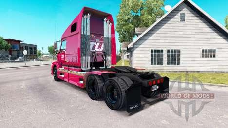 Skin Transco Lines inc. for Volvo truck VNL 670 for American Truck Simulator