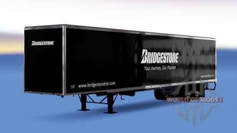 All-metal semi-Bridgestone for American Truck Simulator