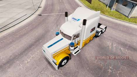 Skin United Van Lines for the truck Peterbilt 38 for American Truck Simulator