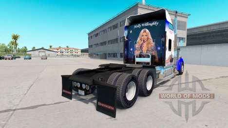 Skin Holly Willoughby on the truck Kenworth W900 for American Truck Simulator