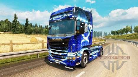 Dub Step skin for Scania truck for Euro Truck Simulator 2