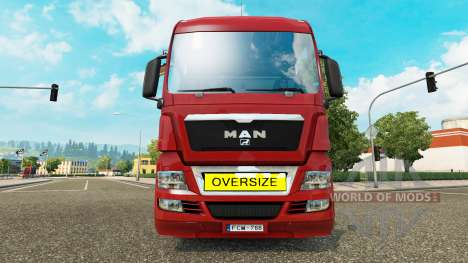 Oversize Load Sign for Euro Truck Simulator 2