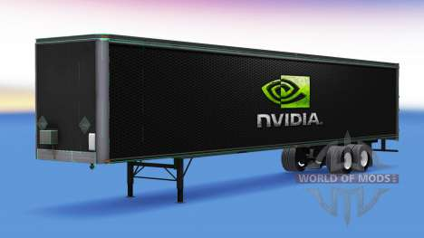 Skin Nvidia GeForce on the trailer for American Truck Simulator