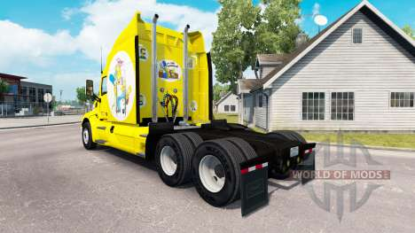 Simpsons skin for the truck Peterbilt for American Truck Simulator