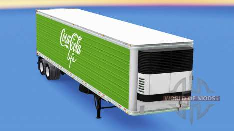 Refrigerated semi-trailer Coca-Cola Life for American Truck Simulator