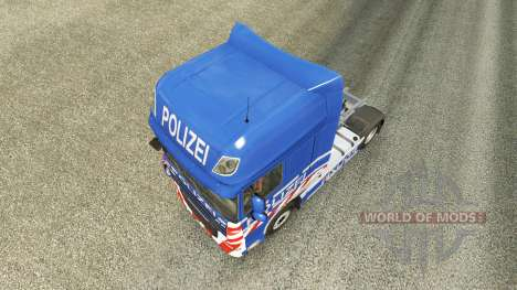 Police skin for DAF truck for Euro Truck Simulator 2