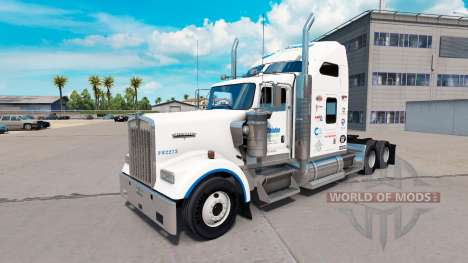 Skin Celadon Logistics on the truck Kenworth W90 for American Truck Simulator