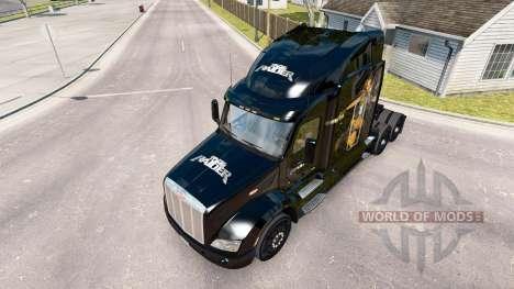 Skin Lara Croft Tomb Raider the tractor Peterbil for American Truck Simulator