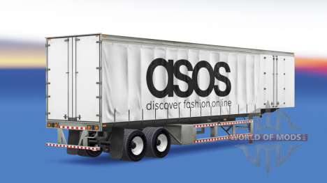 Curtain semi-trailer Asos for American Truck Simulator