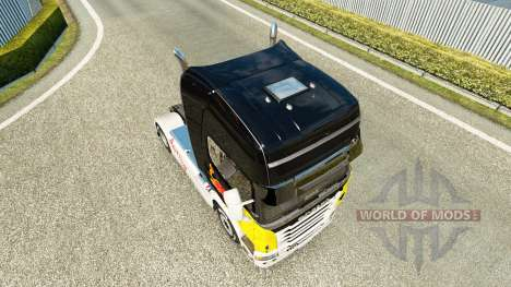 Red Bull skin for Scania truck for Euro Truck Simulator 2