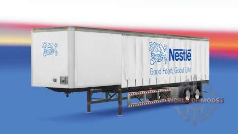 Skin Nestle in the trailer for American Truck Simulator