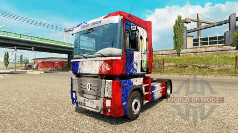 Skin France Copa 2014 on a tractor unit Renault for Euro Truck Simulator 2