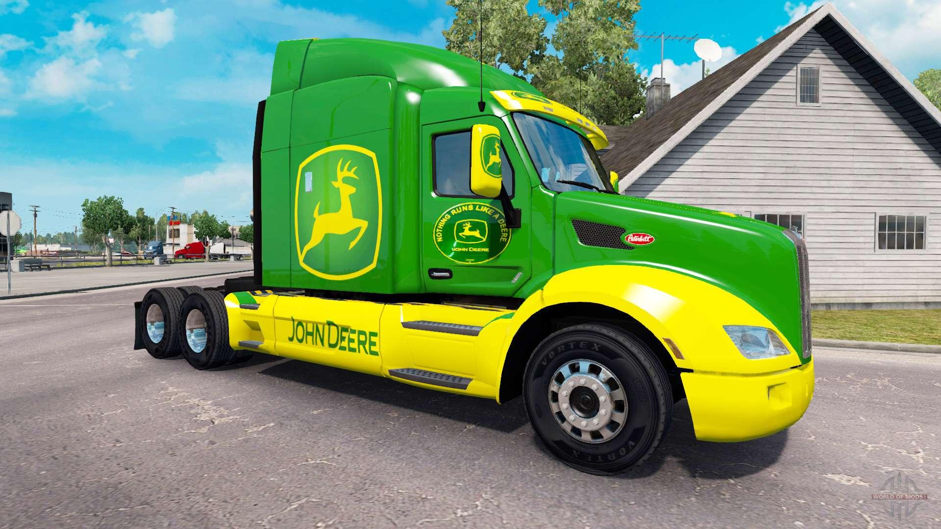 Skin John Deere Tractor Peterbilt For American Truck Simulator