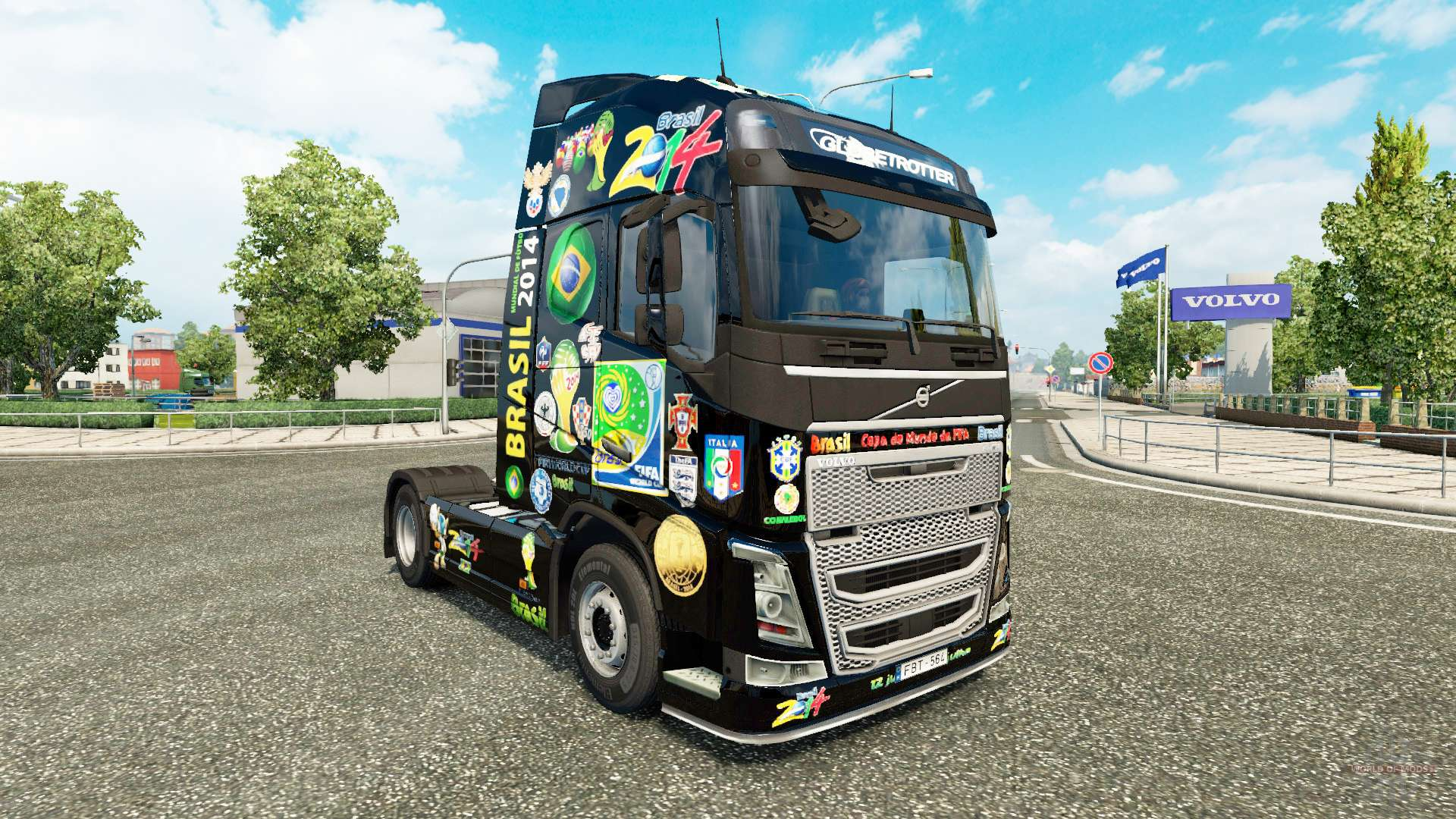 Brasil 2014 Skin For Volvo Truck Euro Simulator 2