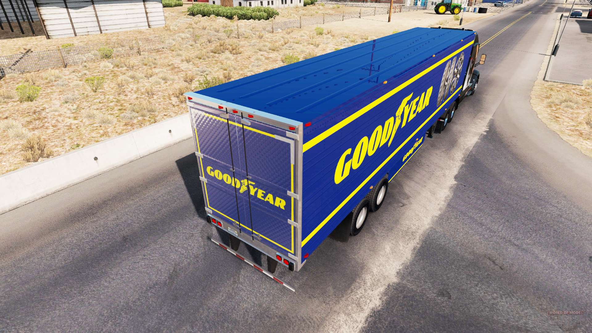 Skin goodyear on refrigerated semi trailer for american truck simulator