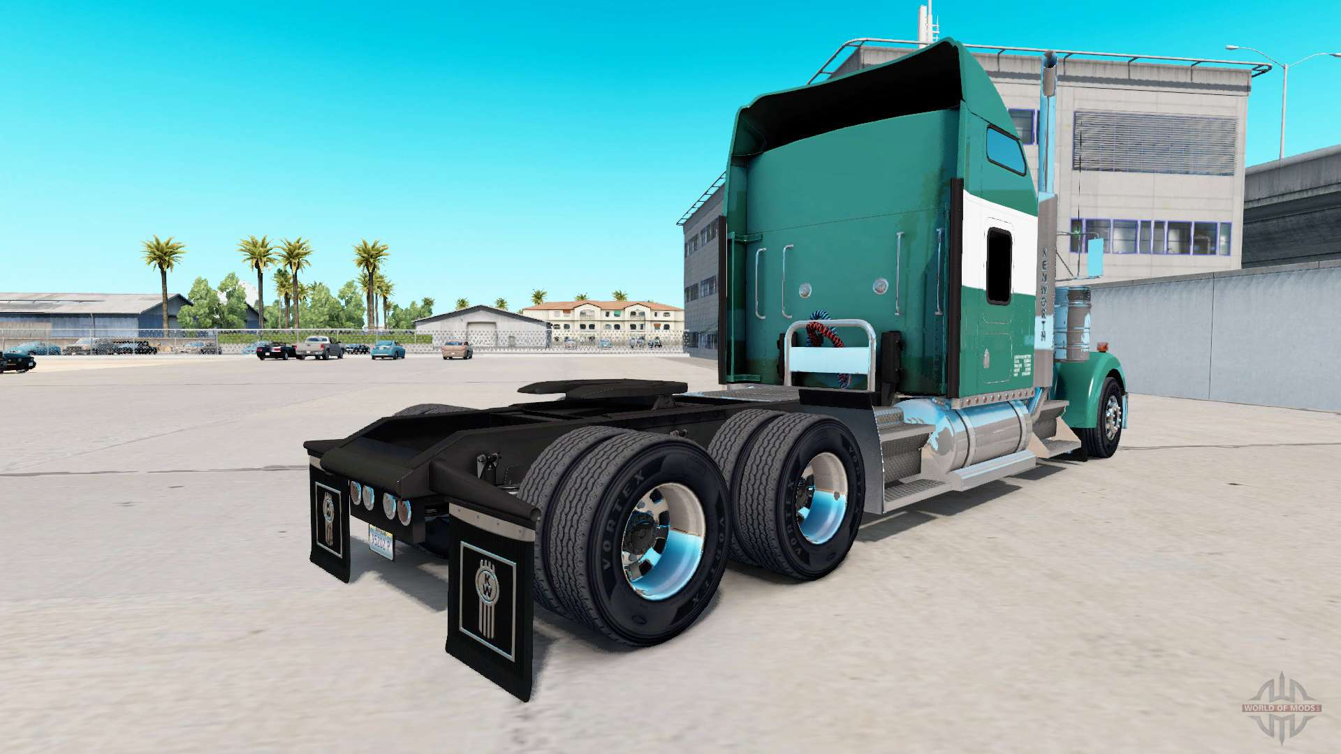 Skin reimer express lines on the truck kenworth for american truck simulator