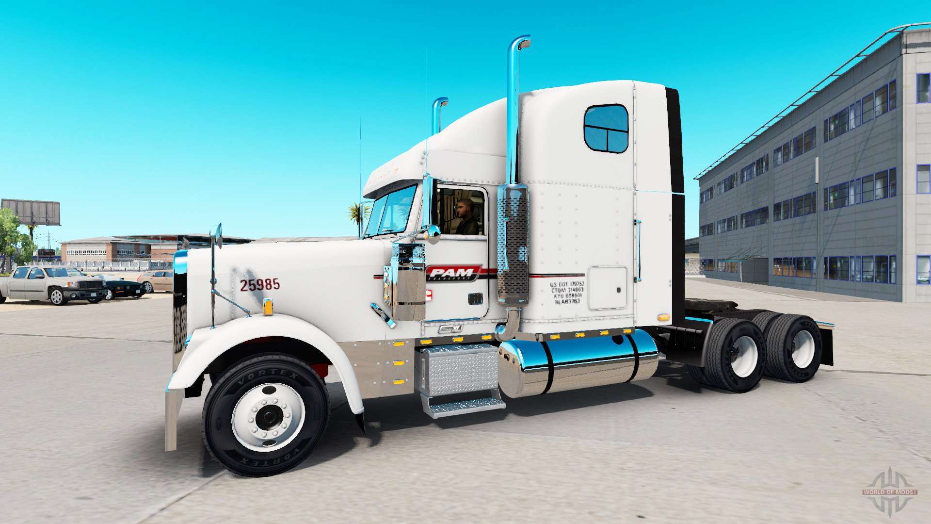 the skin on pam transport truck freightliner classic for american truck simulator