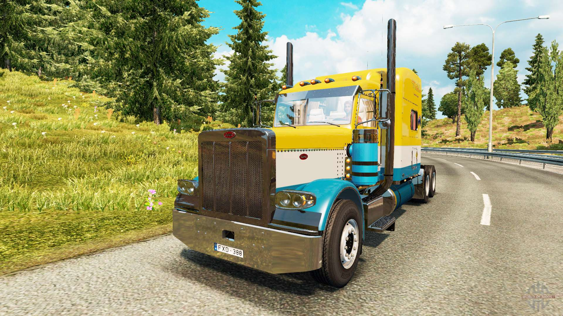 peterbilt 389 toll for euro truck simulator 2. Black Bedroom Furniture Sets. Home Design Ideas