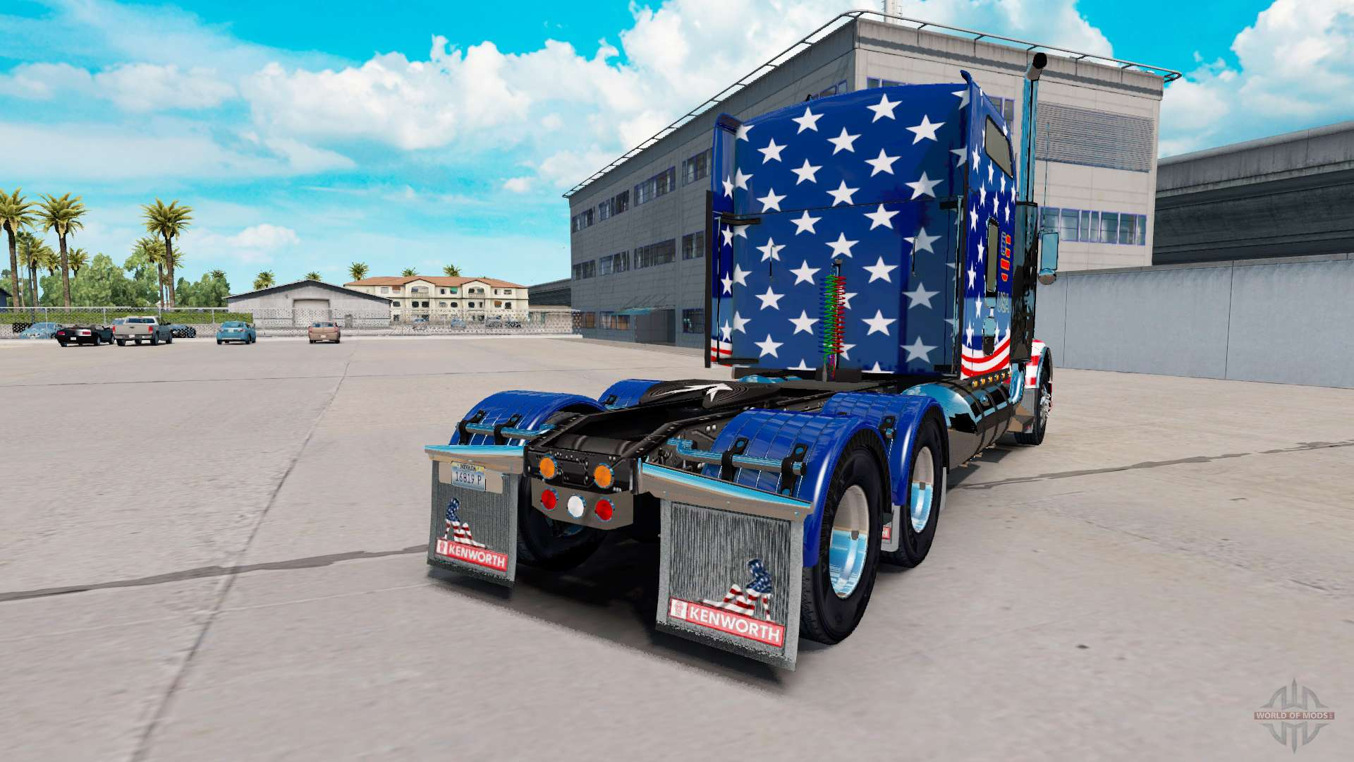 Skin USA Flag Tractor On A Kenworth T800 For American