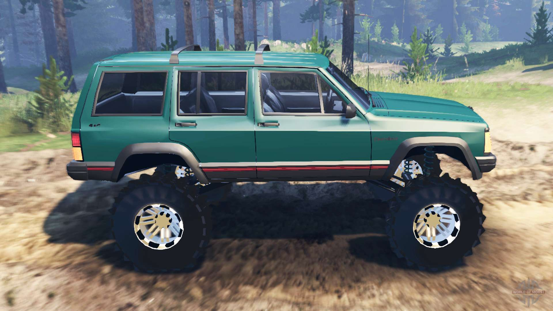 cherokee xj 1996 for spin tires