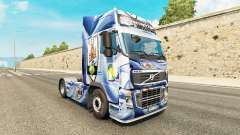 The Uruguay Copa 2014 skin for Volvo truck for Euro Truck Simulator 2