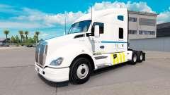 Skin Transport Quebec on Kenworth tractor