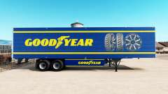 Skin Goodyear on refrigerated semi-trailer