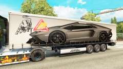 Skin Lamborghini Aventador in the trailer