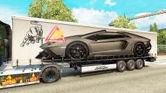 Skin Lamborghini Aventador in the trailer
