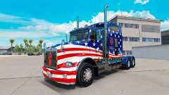 Skin USA Flag tractor on a Kenworth T800