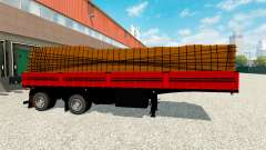 Flatbed semi trailer with cargo for Euro Truck Simulator 2
