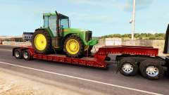 Low sweep with a cargo of tractor John Deere