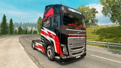 Red Bull skin for Volvo truck for Euro Truck Simulator 2