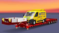 Low bed trawl Doll with a cargo van
