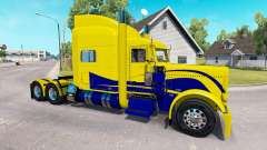 Skin Yellow and Blue for the truck Peterbilt 389