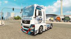 Skin EC Kassel Huskies on tractor MAN for Euro Truck Simulator 2